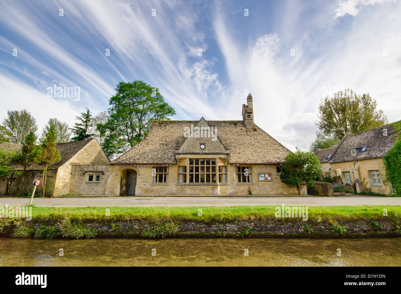 The Village Hall in Lower Slaughter in the Cotswolds - Stock Image