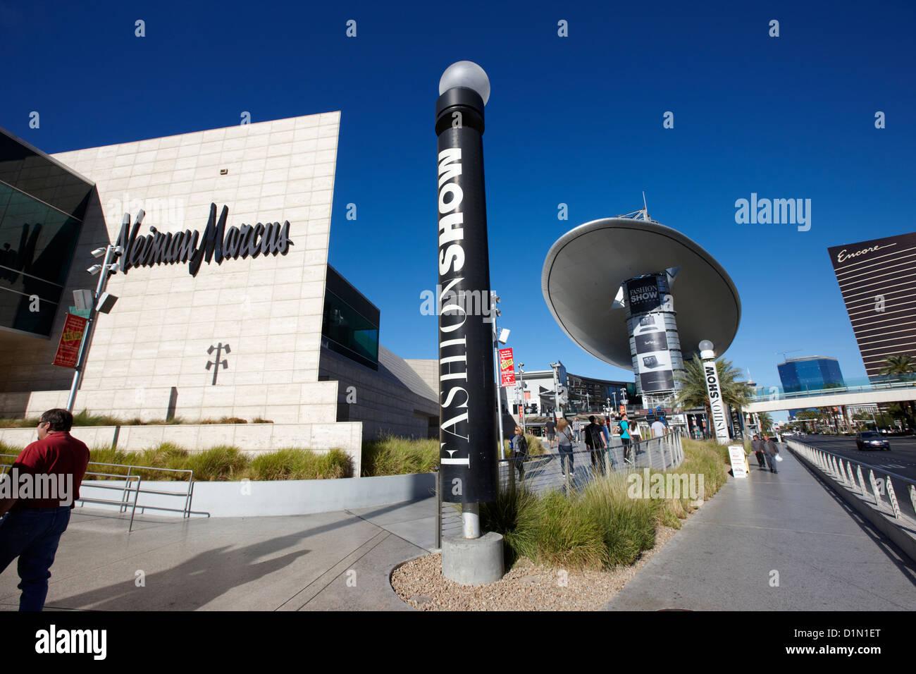 fashion show shopping mall Las Vegas strip Nevada USA - Stock Image