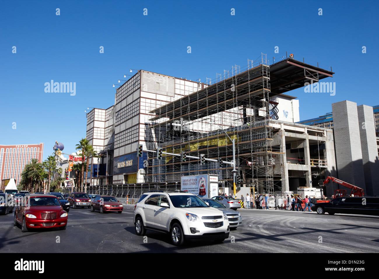 redevelopment of the imperial palace casino Las Vegas Nevada USA - Stock Image