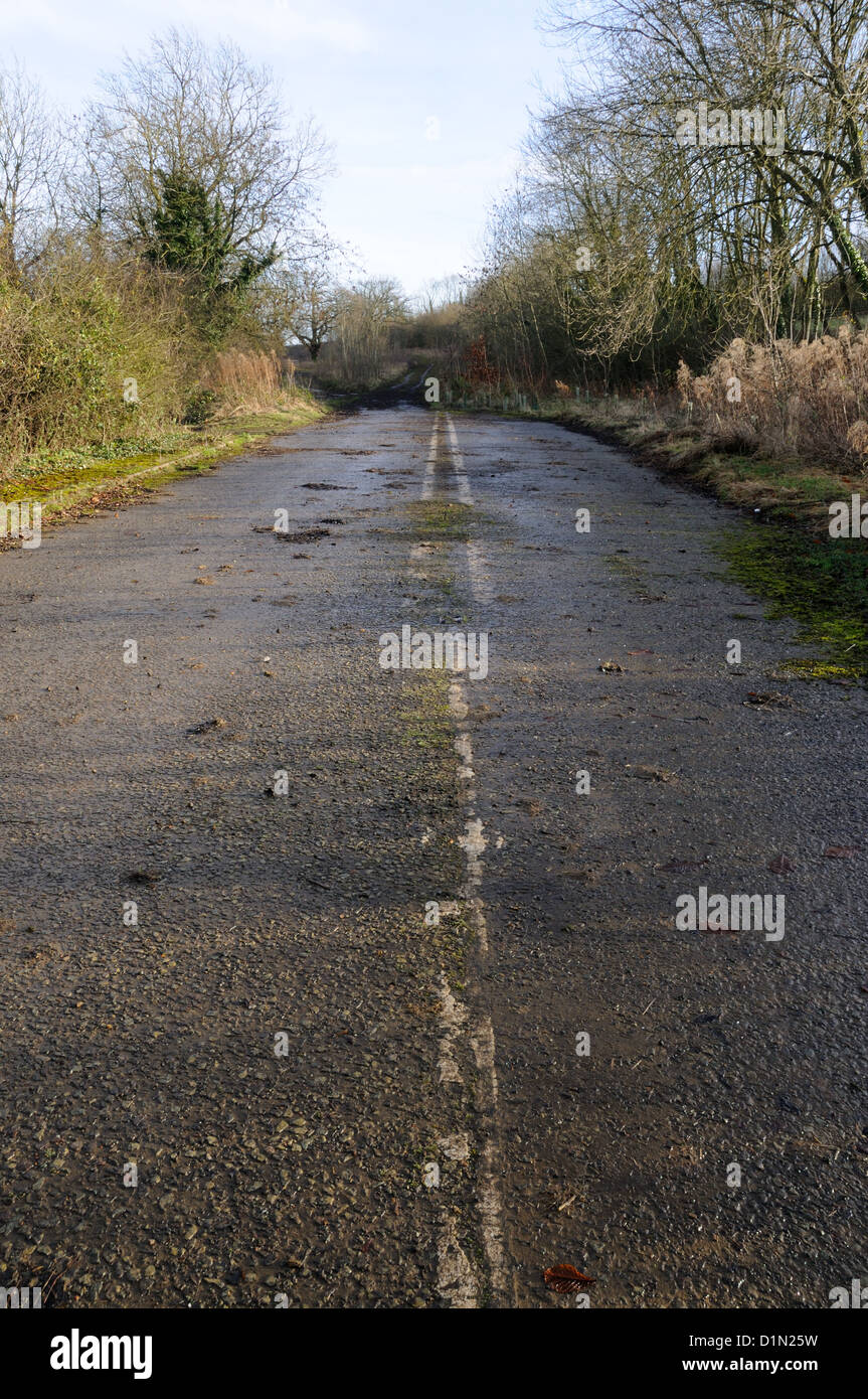 A former section of the A47 trunk road - now replaced by a by-pass - at East Norton, Leicestershire, England - Stock Image