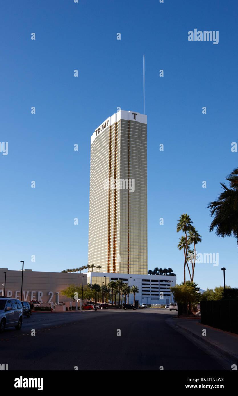 the trump luxury hotel condominium and timeshare Las Vegas Nevada USA - Stock Image