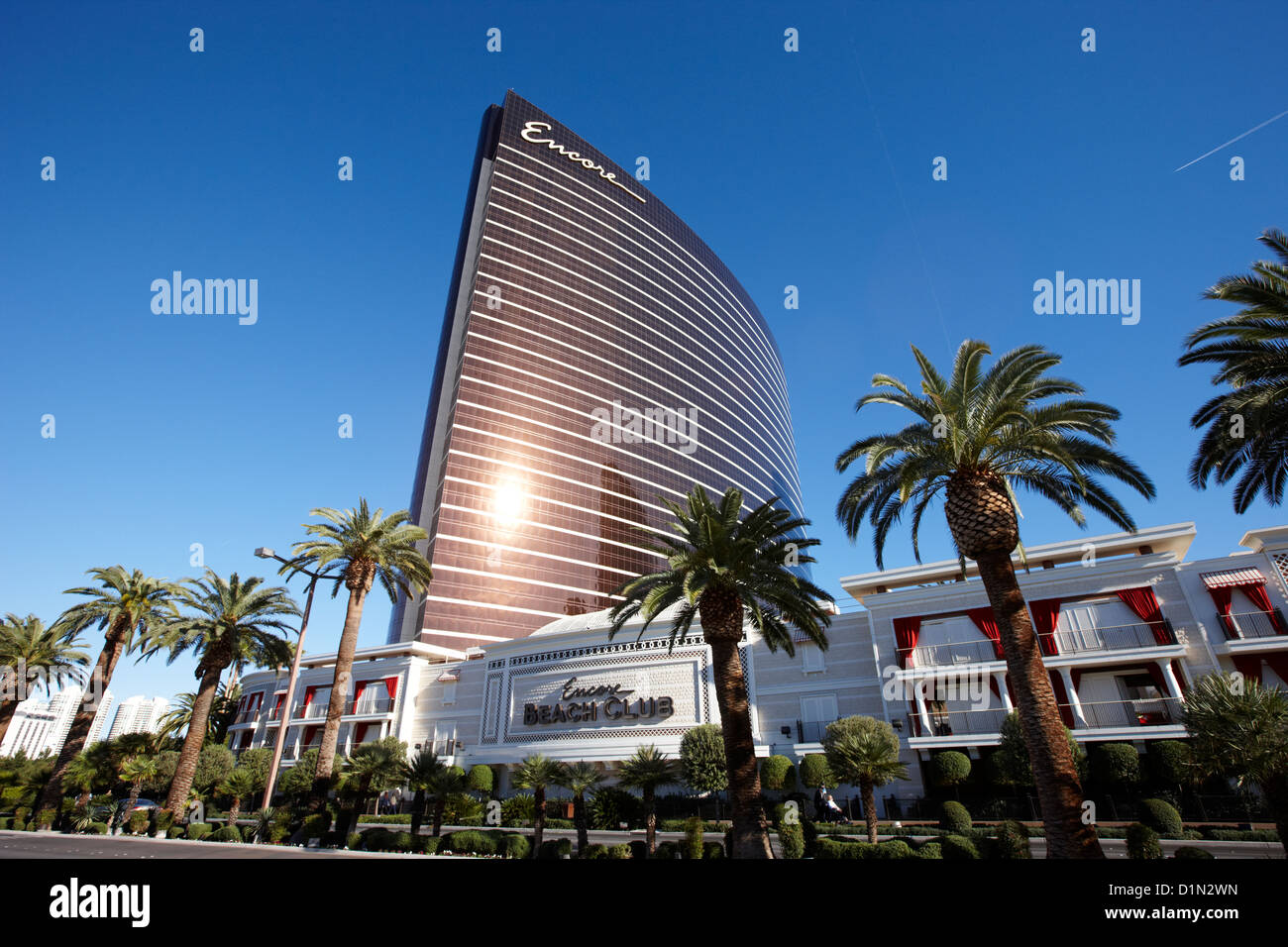 the encore resort and casino hotel and beach club Las Vegas Nevada USA - Stock Image