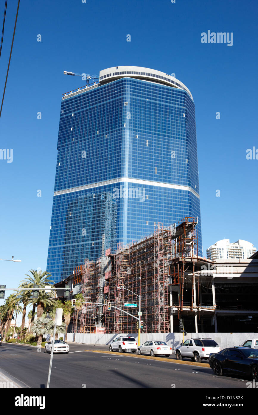 construction halted at the fontainebleau resort and casino now named the drew Las Vegas Nevada USA - Stock Image