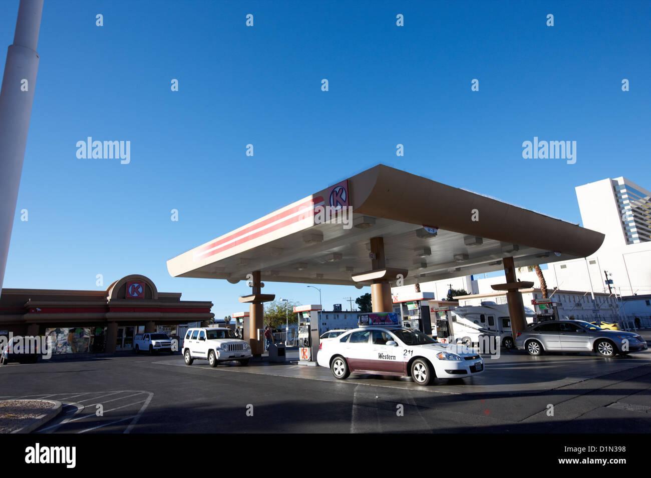 circle k gas station Las Vegas Nevada USA Stock Photo