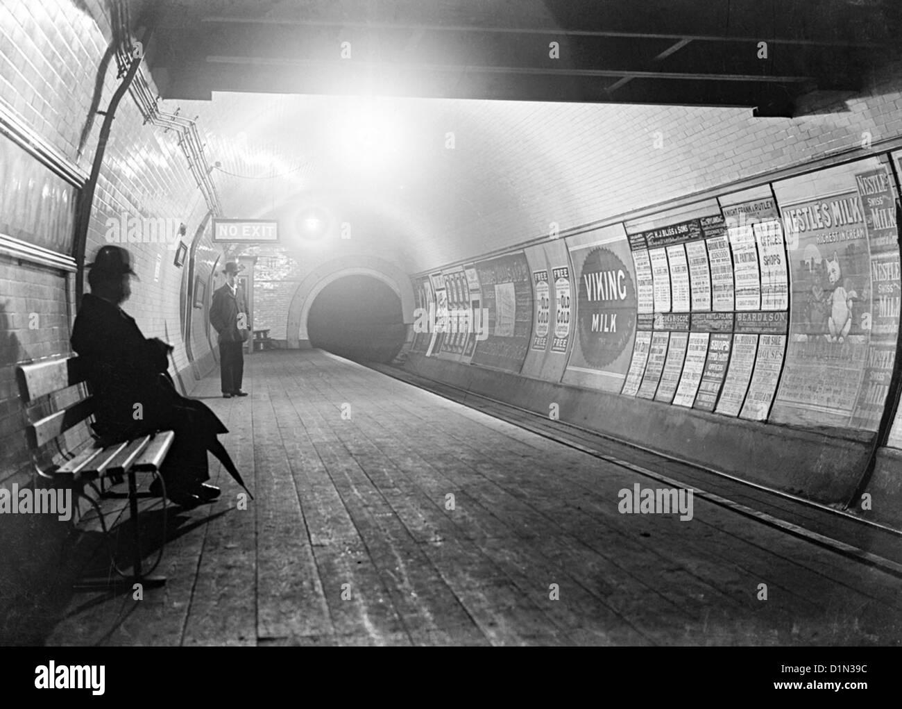 London Underground, circa late 1800's, London, Britain, UK - Stock Image