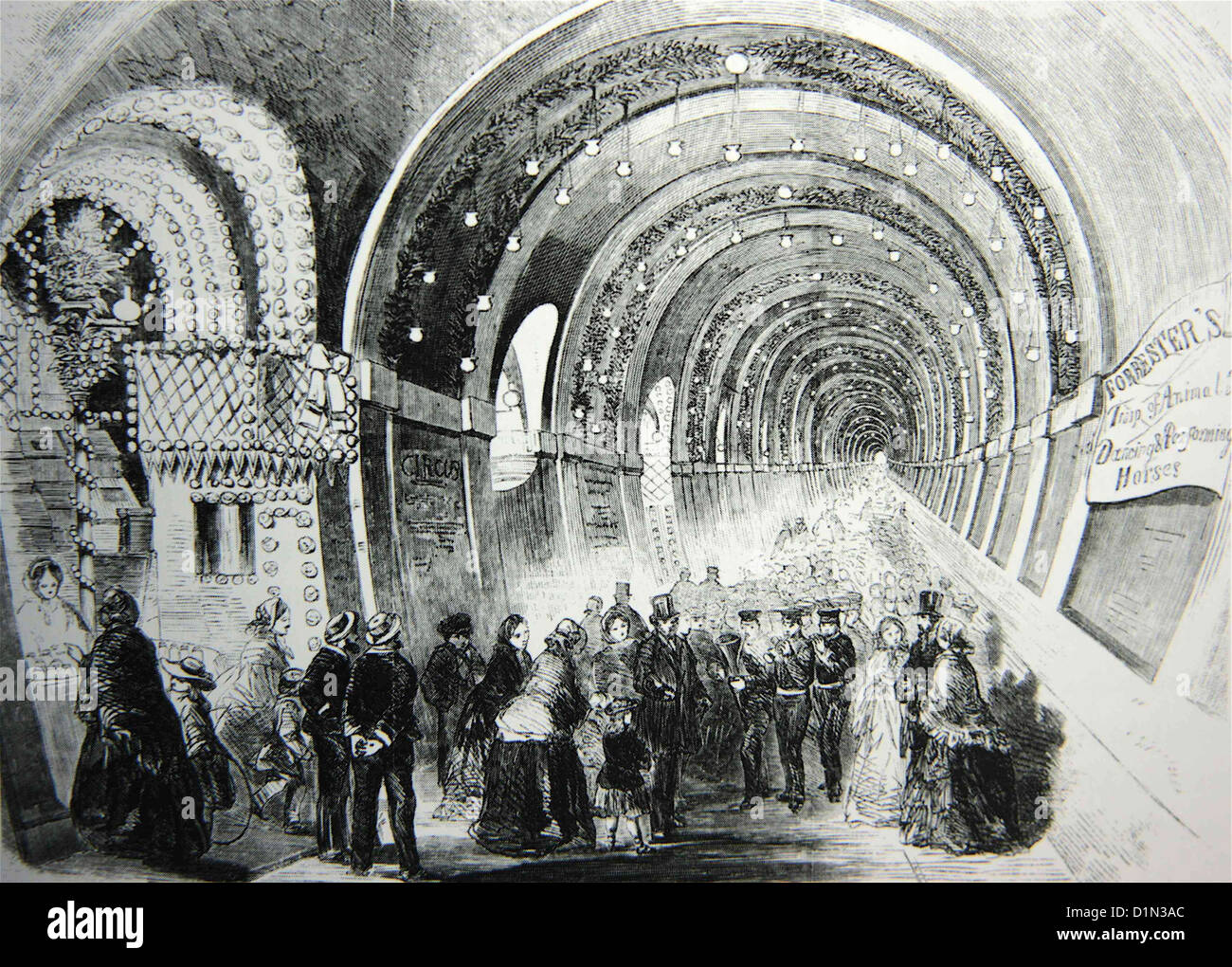 Fair in the Thames Tunnel, London, Britain, UK Stock Photo