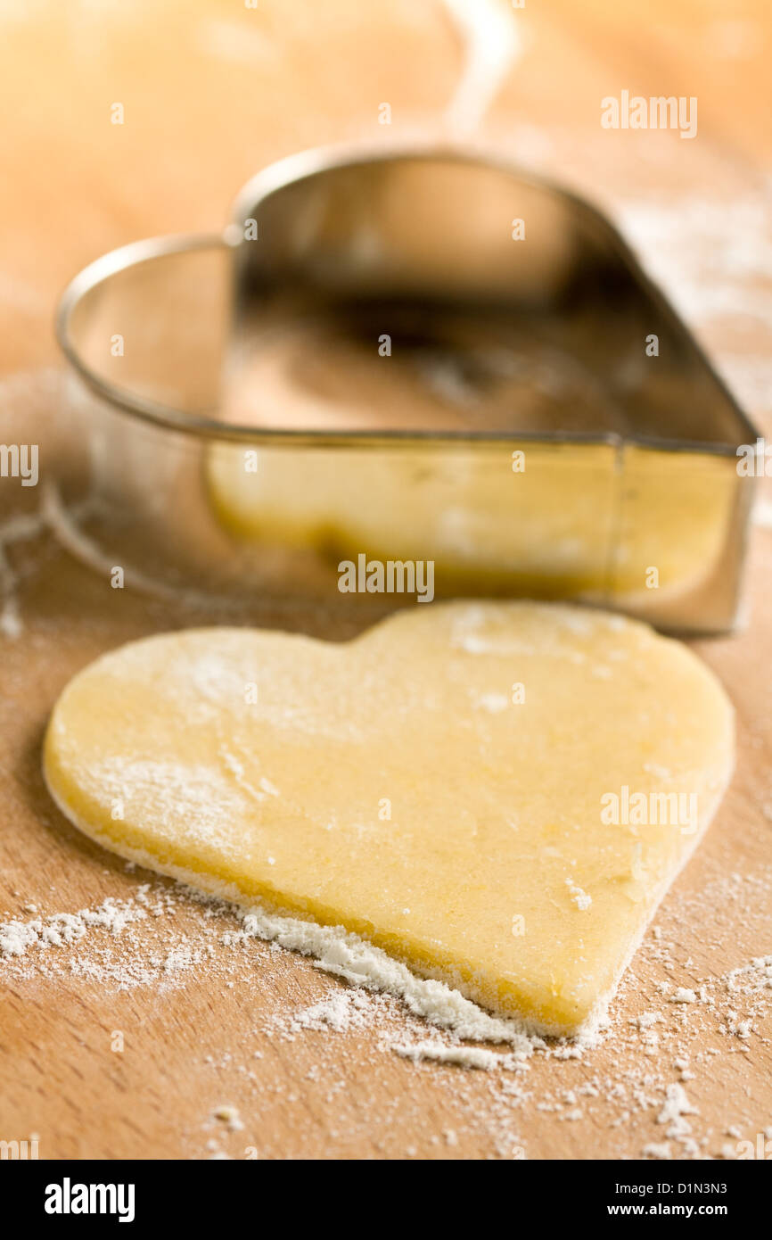 Heart-shaped cookie cutter - Stock Image