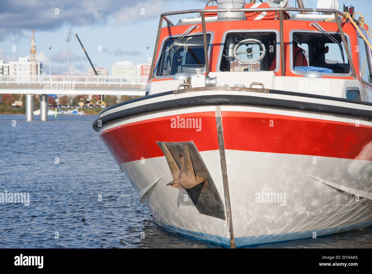 Finland Oulu bay boat harbour lifestyle luxury ocean - Stock Image