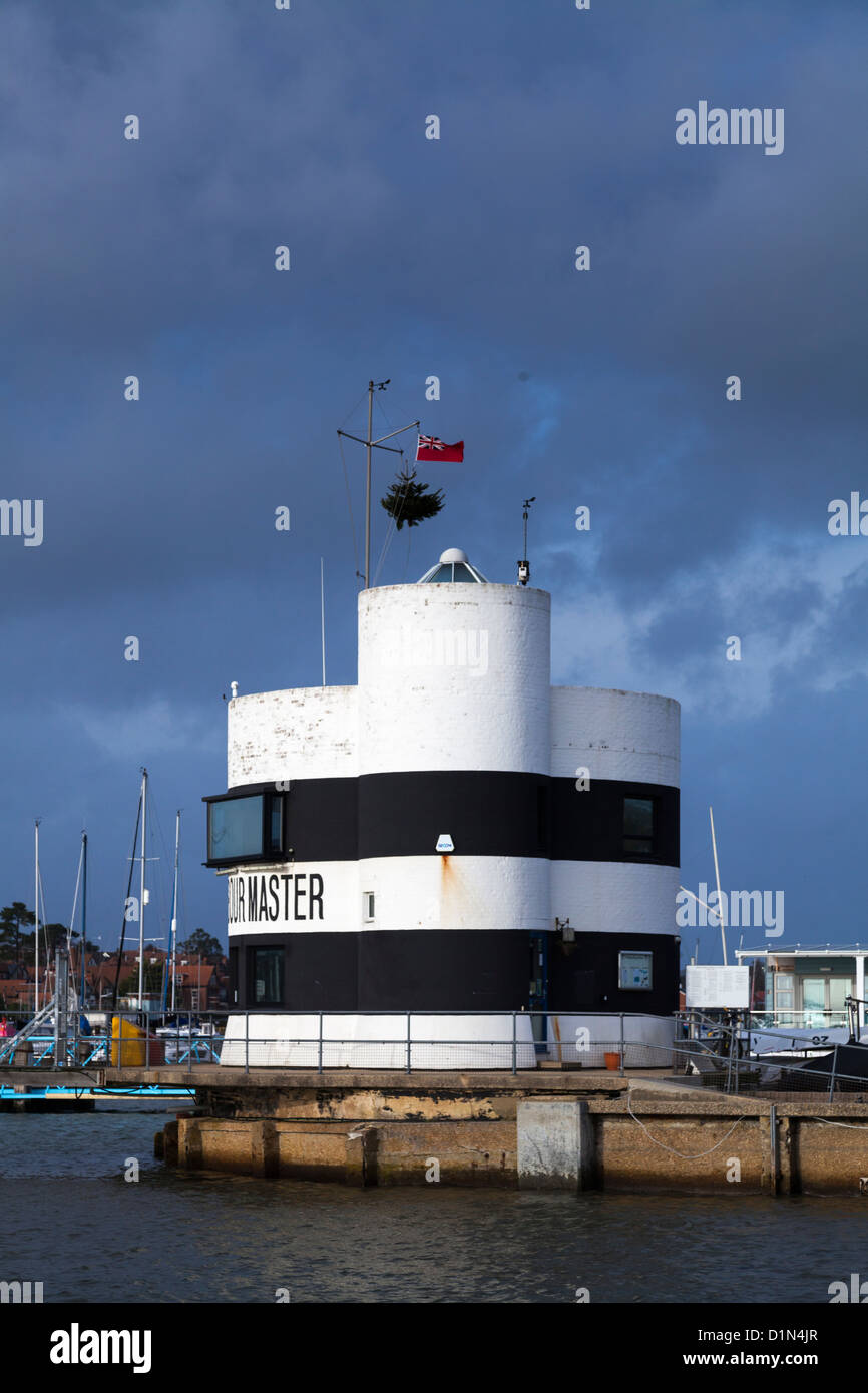 Harbour Master's Office for the River Hamble at Warsash - Stock Image