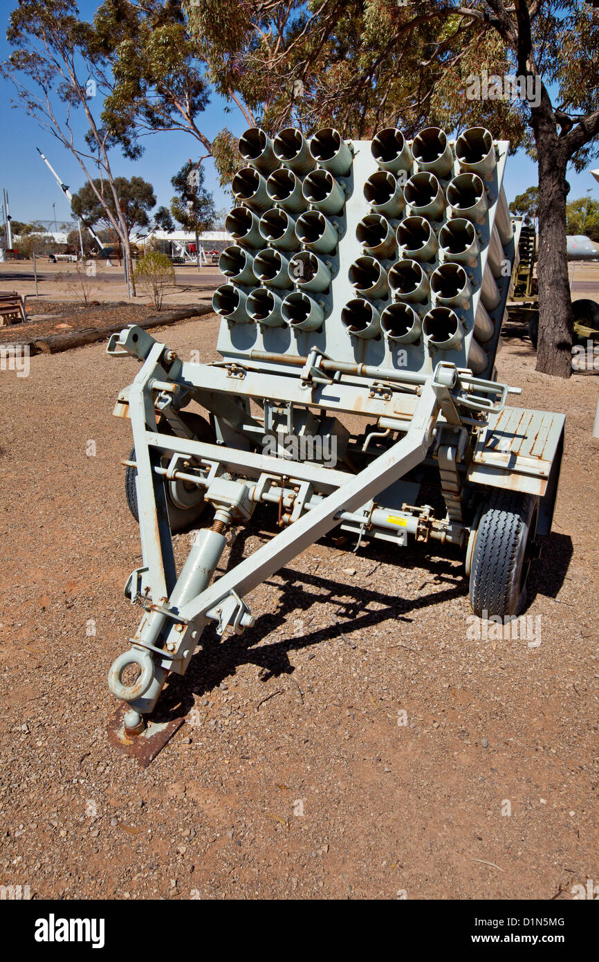 Rocket heritage park Woomera South Australia - Stock Image