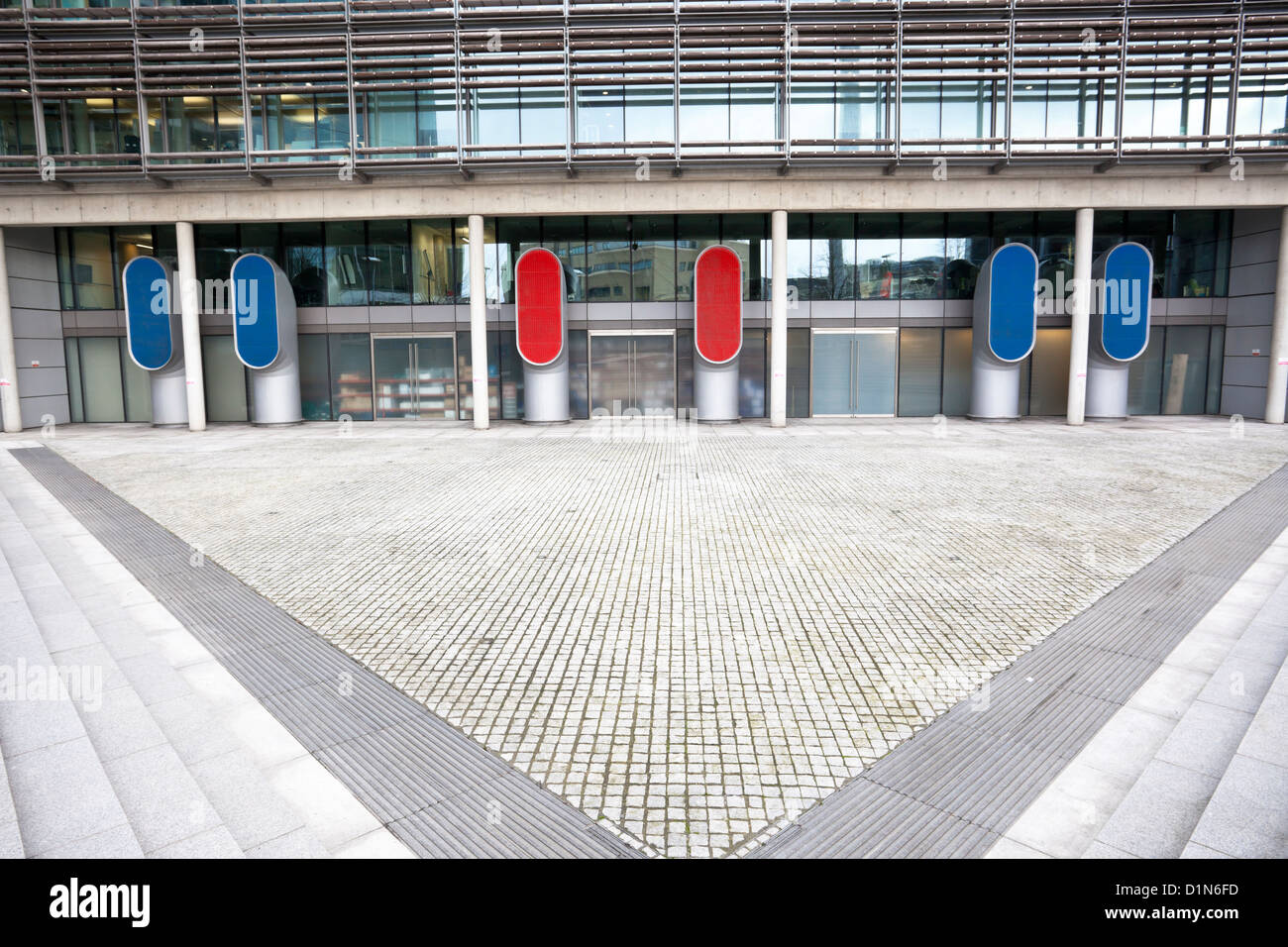 Ventilation shafts at the back of a building, London, England, UK - Stock Image