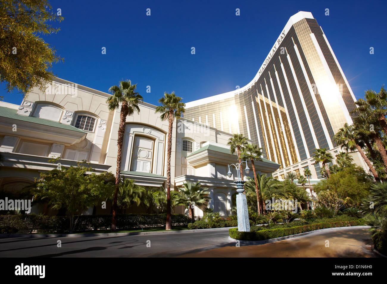 the four seasons hotel at mandalay bay resort hotel and casino Las Vegas Nevada USA Stock Photo