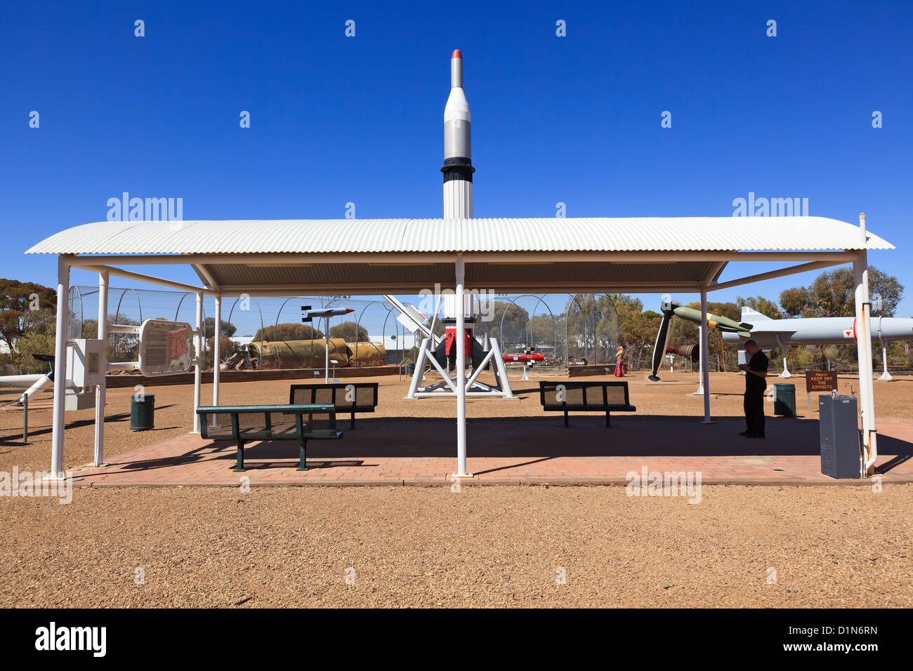 display rockets historical - Stock Image