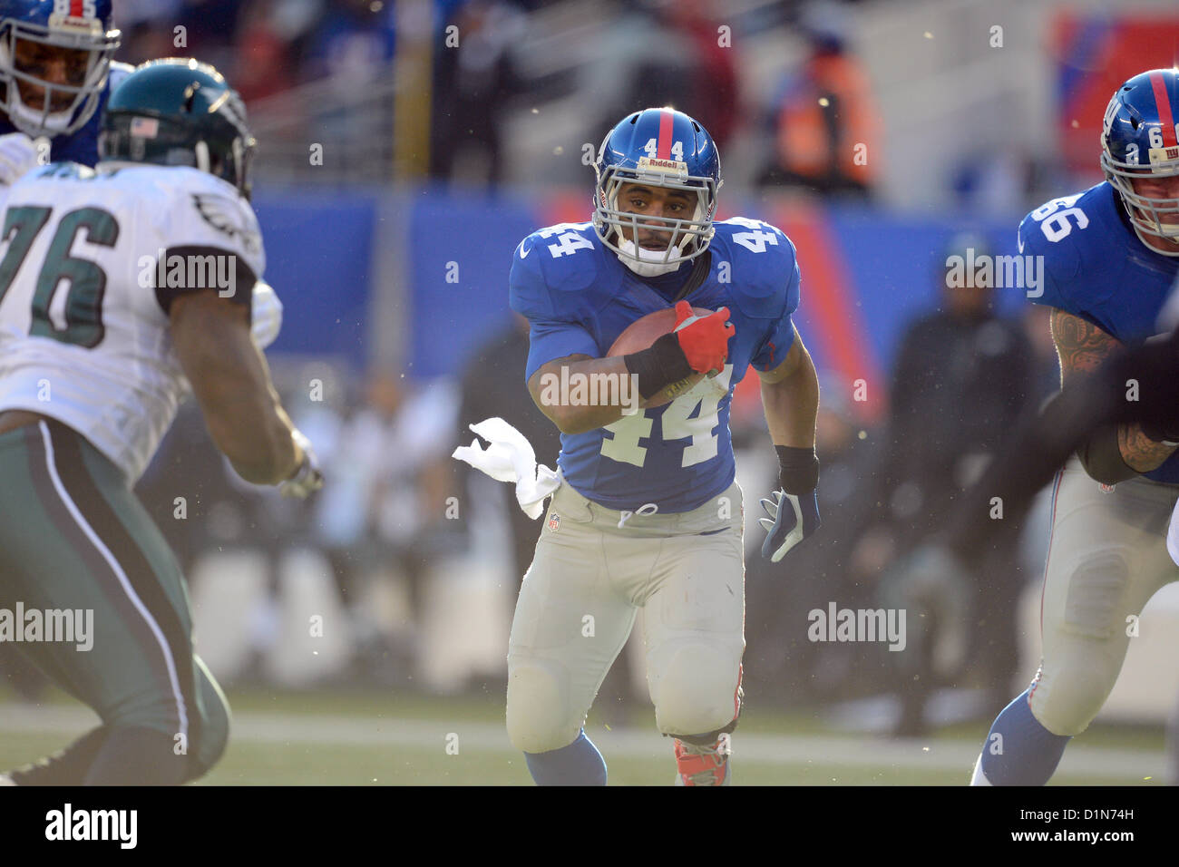 New Jersey, USA. 30 December 2012: New York Giants running back