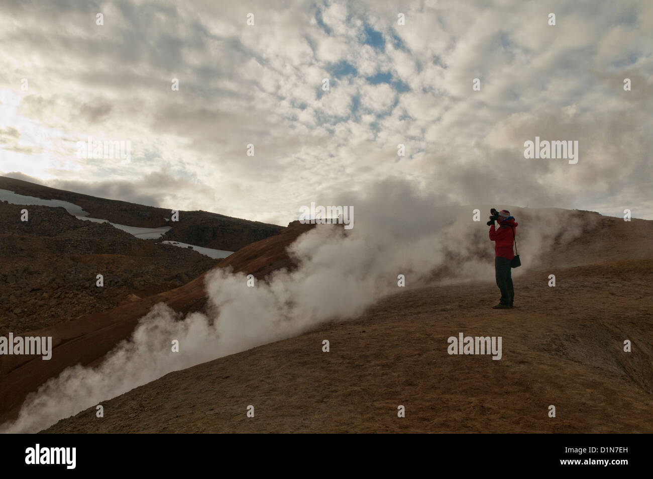 The steam vents of Kerlingarfjöll in the highlands of Iceland - Stock Image