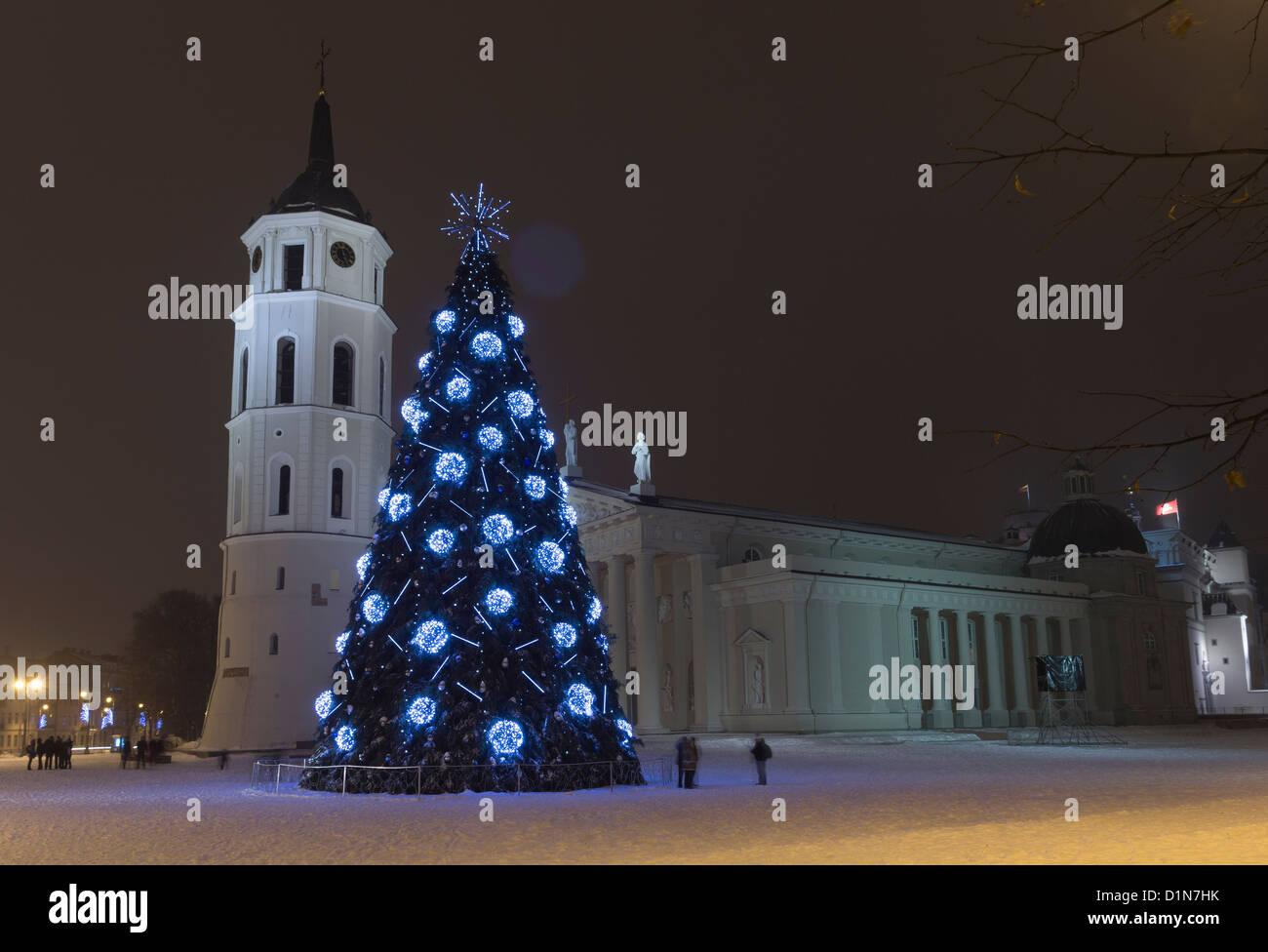 City Christmas Tree, Vilnius Lithuania 2012-2013 Stock Photo