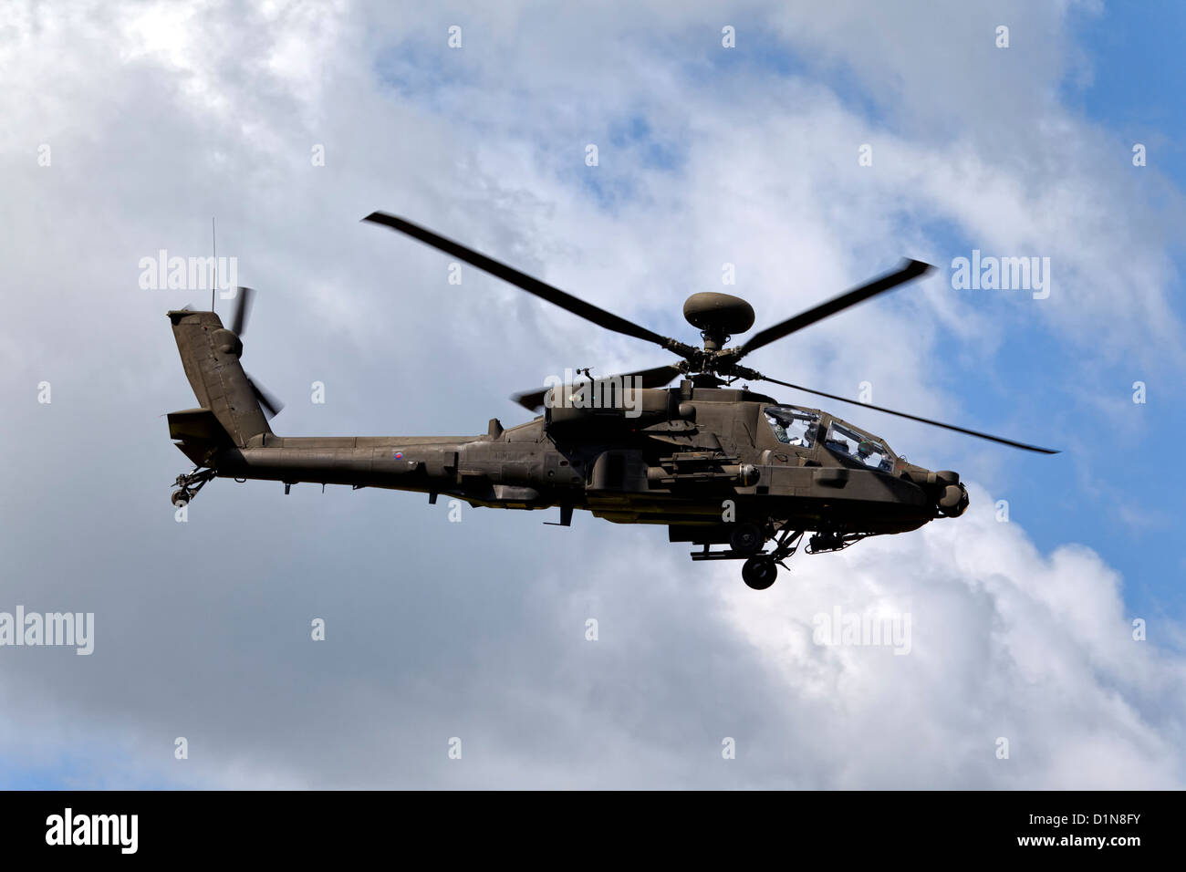 British Army WAH-64D Longbow Apache AH1 Attack Helicopter - Stock Image