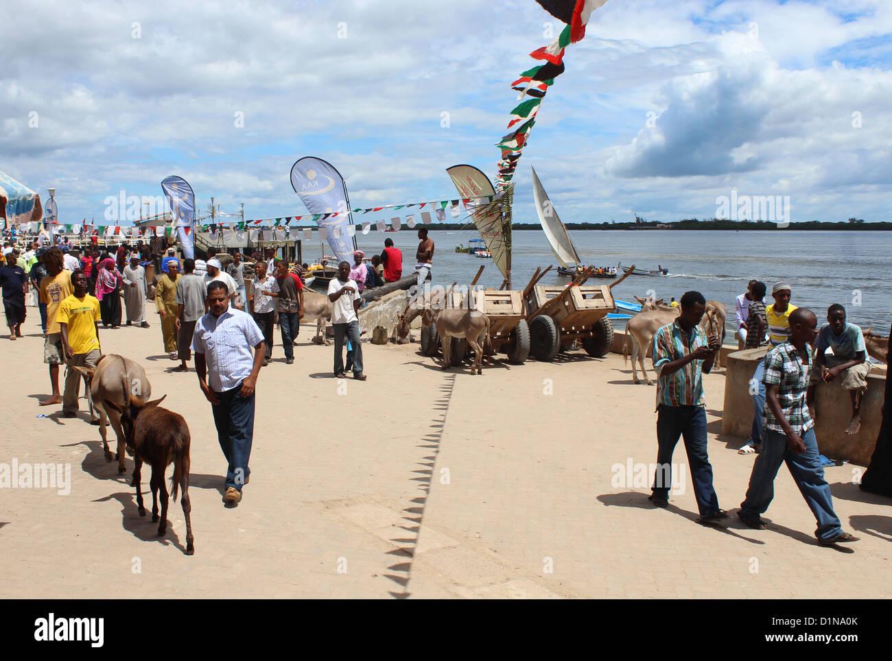 Lamu Island, Kenya, East Africa - Stock Image