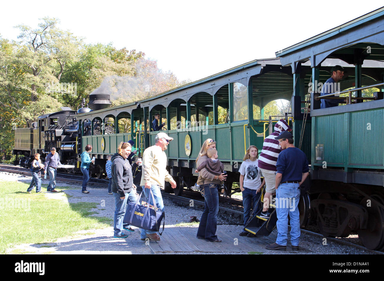 Cass Scenic Railroad State Park, West Virginia, USA - Stock Image