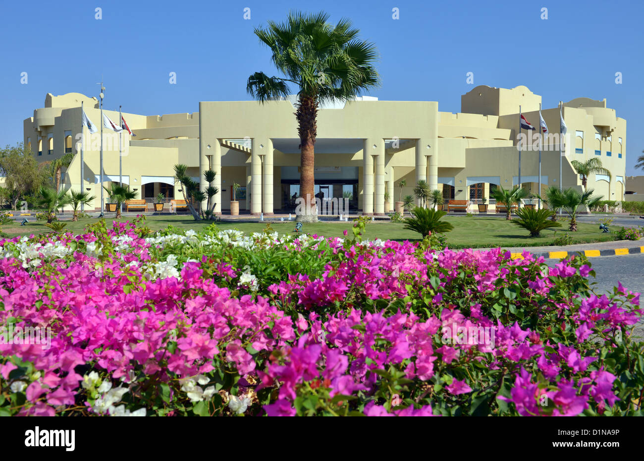 The Marriott Hotel, Taba Heights holiday resort complex at Sinai in Egypt. - Stock Image