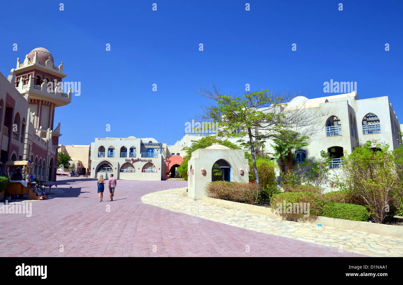 Taba Heights holiday resort complex at Sinai in Egypt - Stock Image