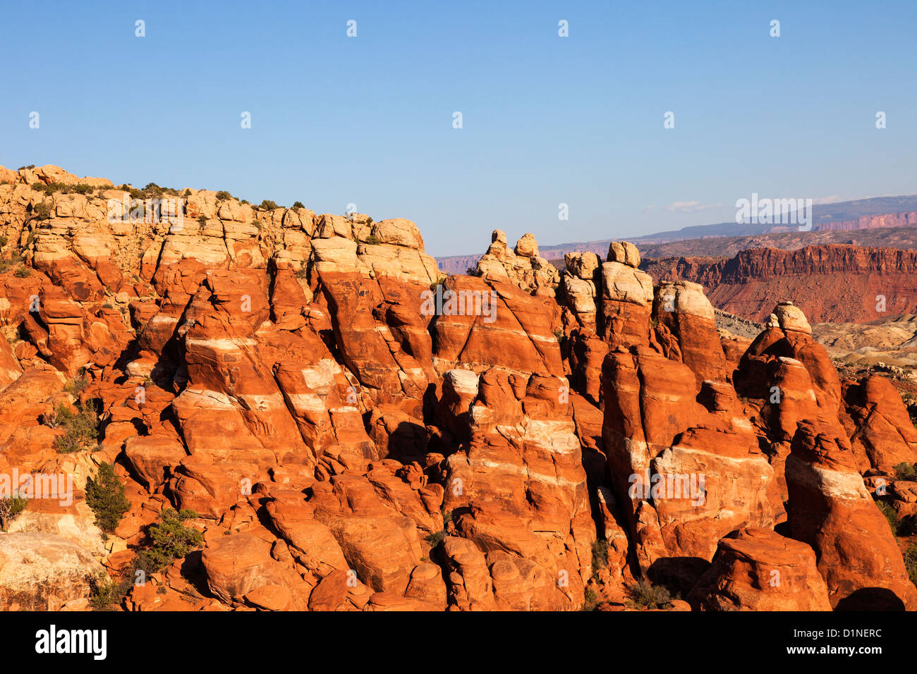 Fiery Furnace, Arches NP, Utah, USA - Stock Image