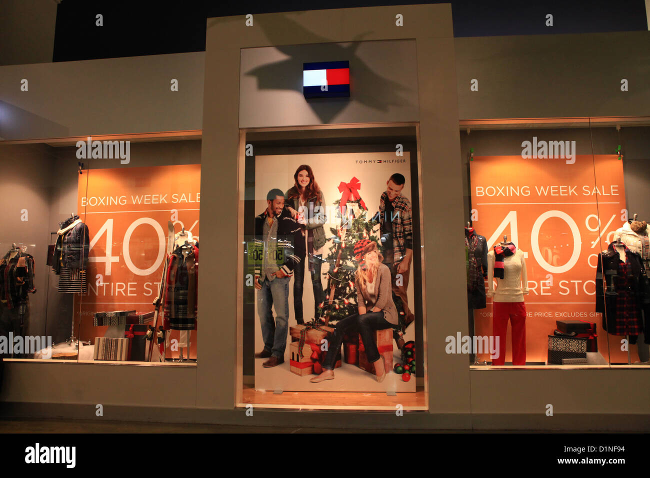 b6a8a8cc Tommy Hilfiger store - Christmas season Stock Photo: 52718768 - Alamy