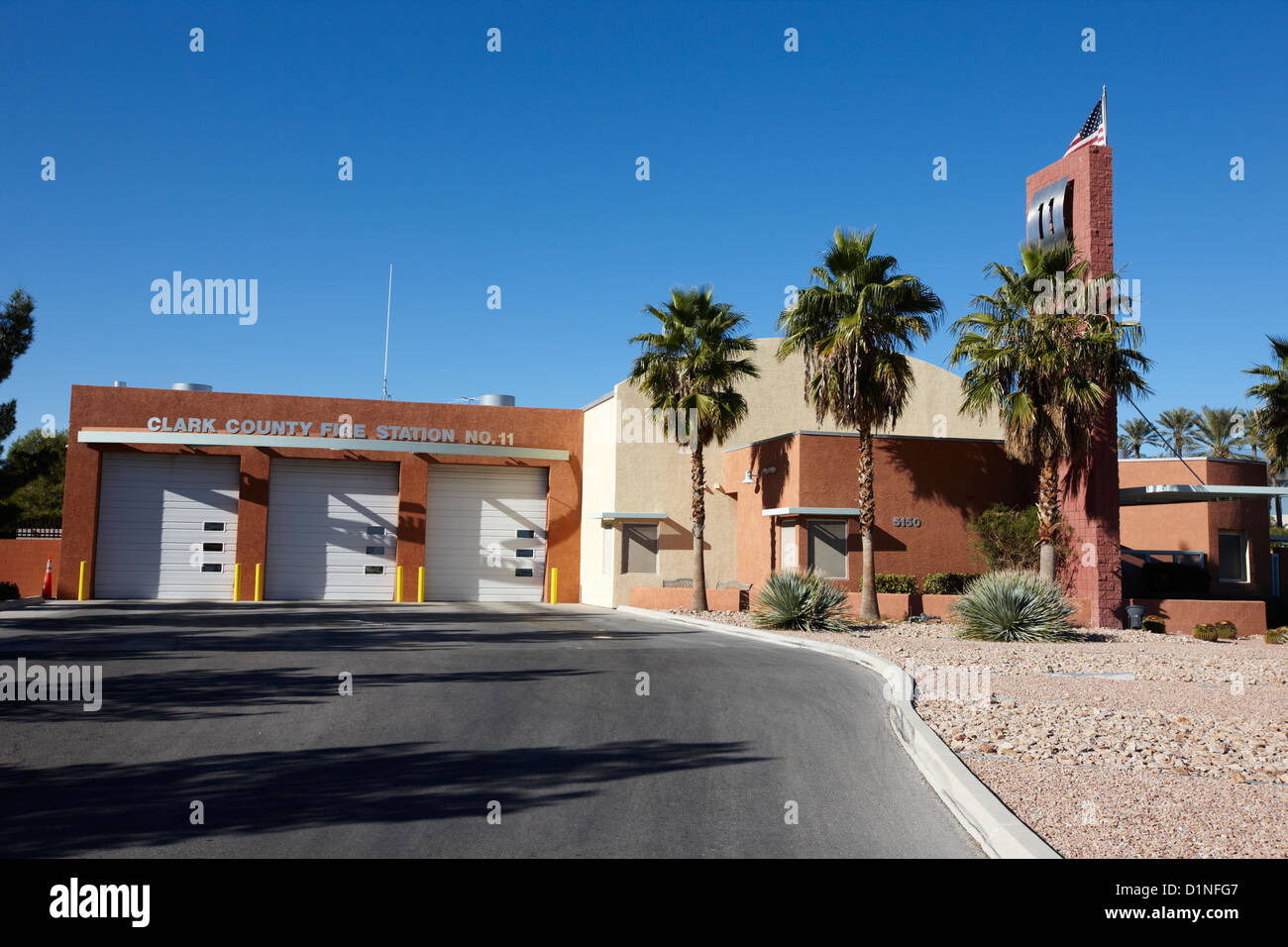 clark county fire department ccfd fire station no. 11 Las Vegas Nevada USA - Stock Image