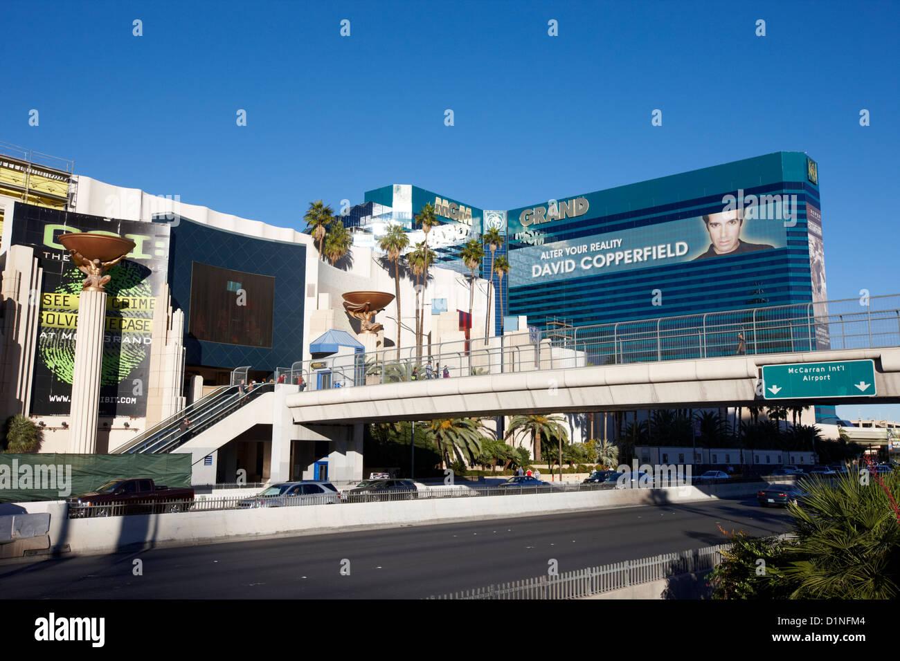 the mgm grand resort hotel and casino Las Vegas Nevada USA - Stock Image
