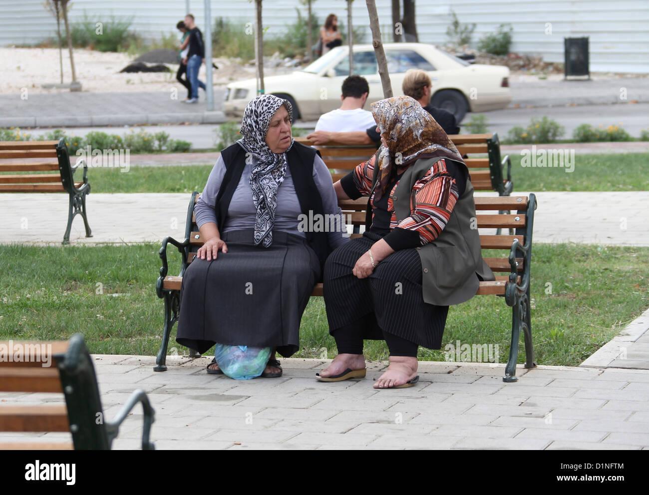 Albanian Women in Tirana - Stock Image