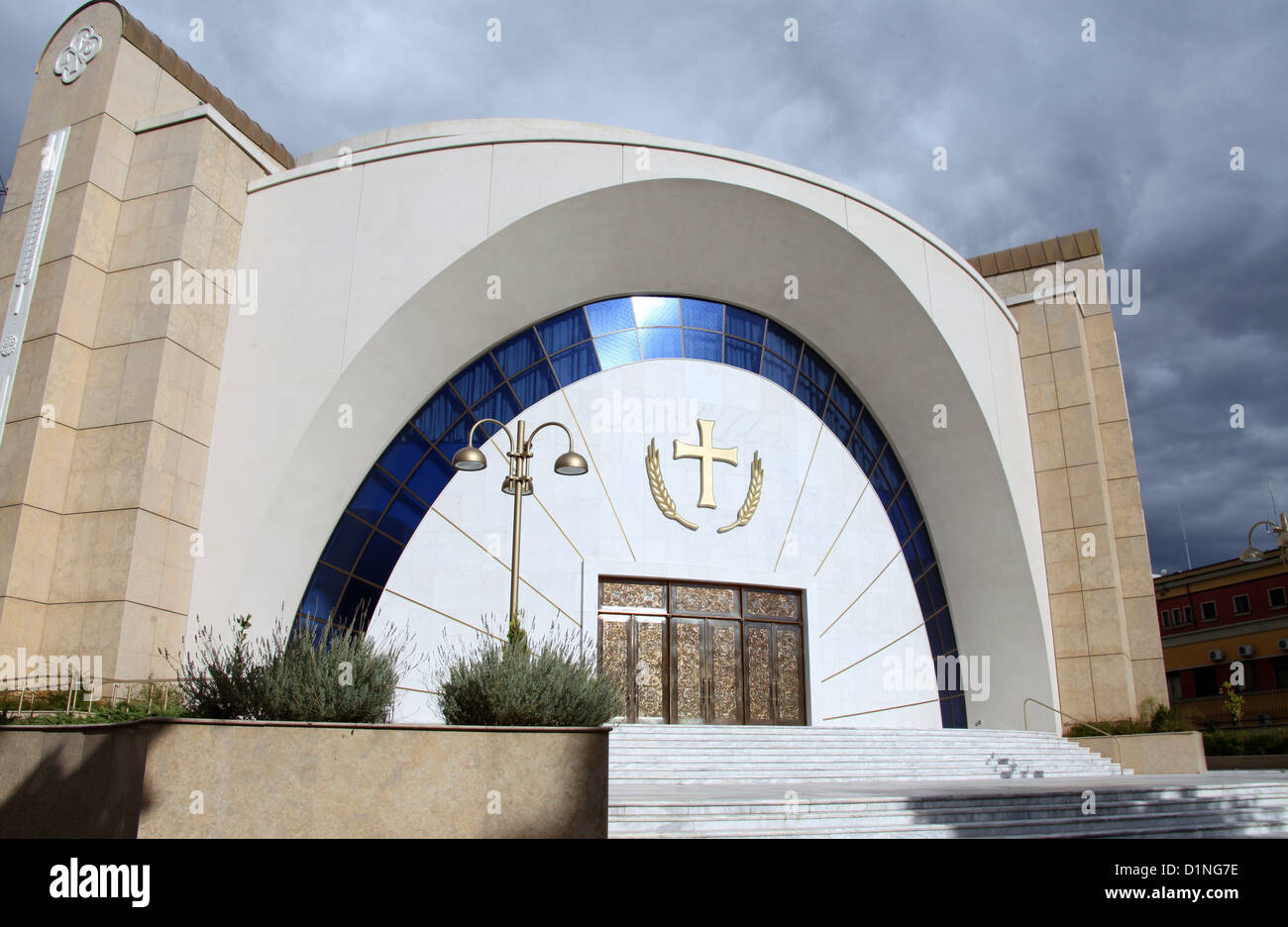 Newly Constructed Orthodox Cathedral of the Resurrection of Christ in Tirana - Stock Image