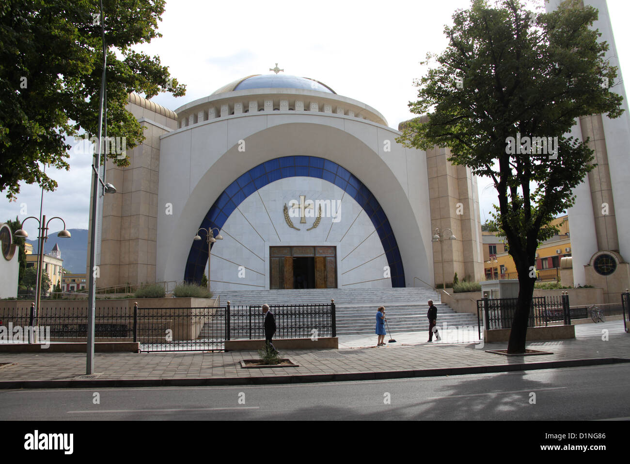 Newly Constructed Orthodox Cathedral of the Resurrection of Christ in Tirana Stock Photo