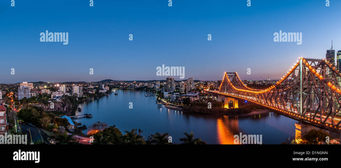 Story Bridge over the Brisbane River, Brisbane, Queensland, Australia - Stock Image