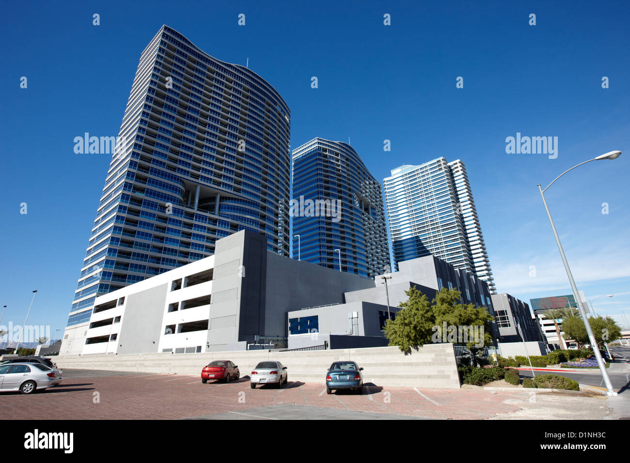 panorama towers and the martin condominium complex in Las Vegas Nevada USA - Stock Image