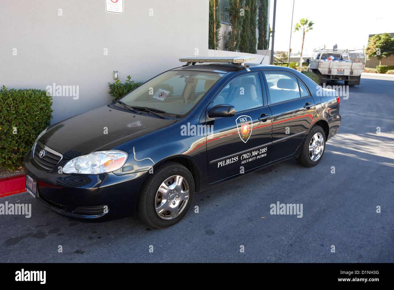 private security company patrol car vehicle Las Vegas Nevada USA - Stock Image