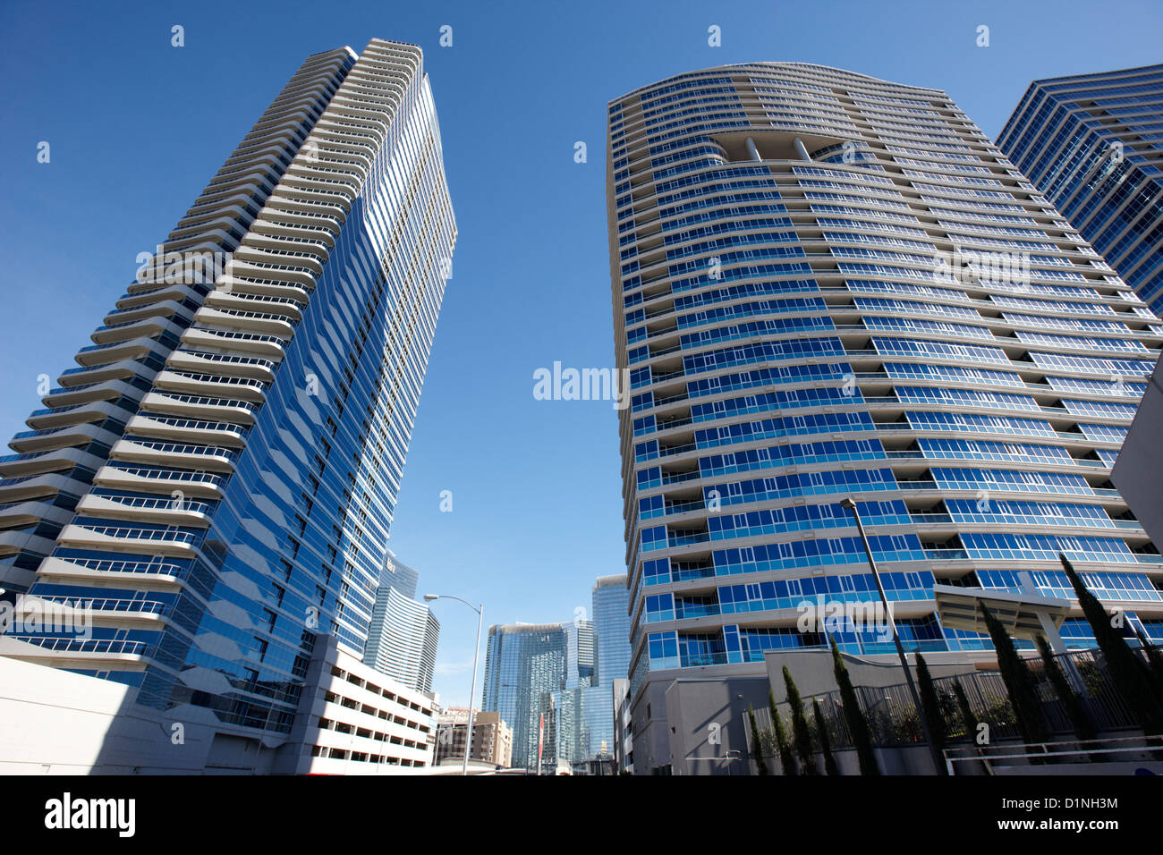 the martin and panorama towers condominium complex in Las Vegas Nevada USA - Stock Image
