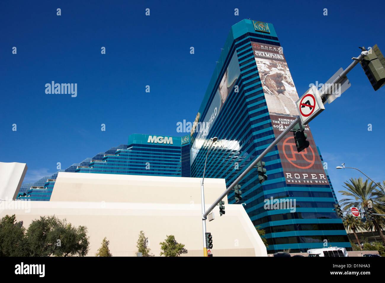 mgm grand resort and casino Las Vegas Nevada USA - Stock Image