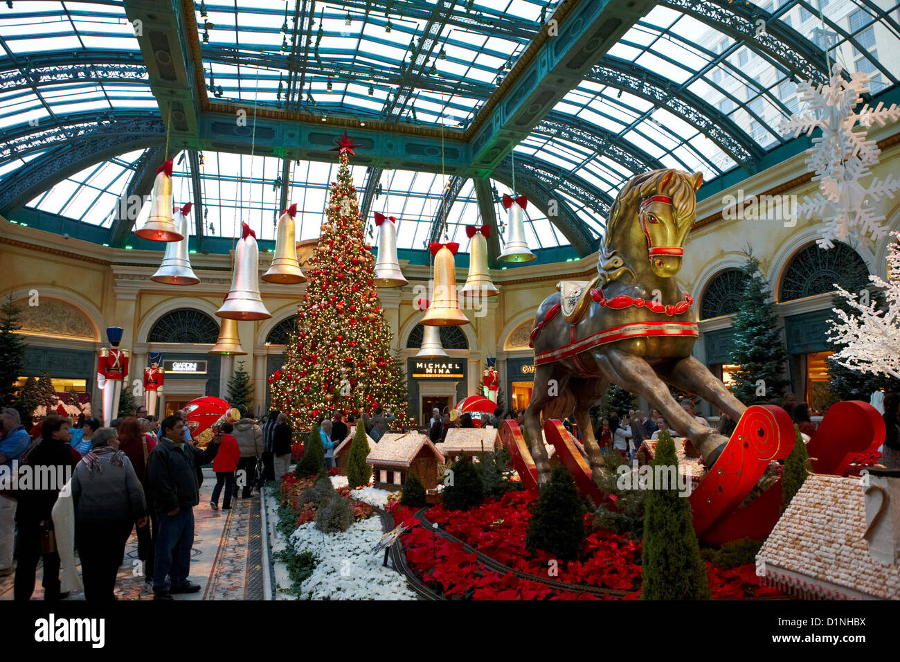 Christmas Decorations In The Bellagio Gardens Las Vegas Nevada Usa