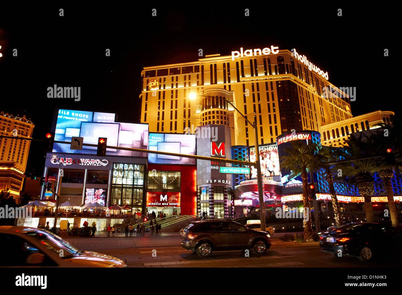 Planet Hollywood Las Vegas Hotel Stock Photos & Planet