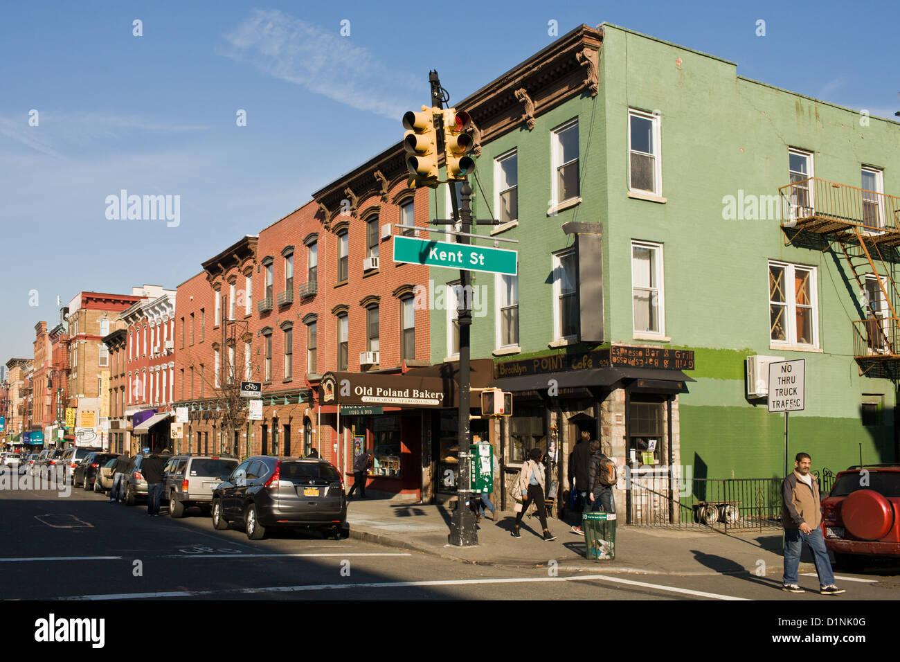 Polish neighborhood of Greenpoint, Brooklyn, New York - Stock Image