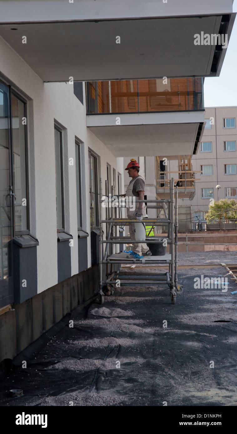Warming of a balcony with polyfoam 99