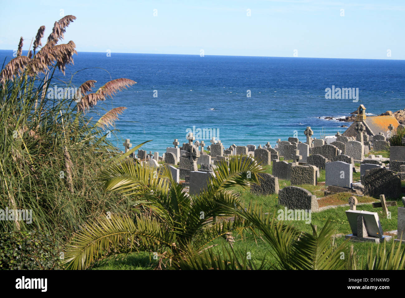 Graveyard in St. Ives, Cornwall - Stock Image