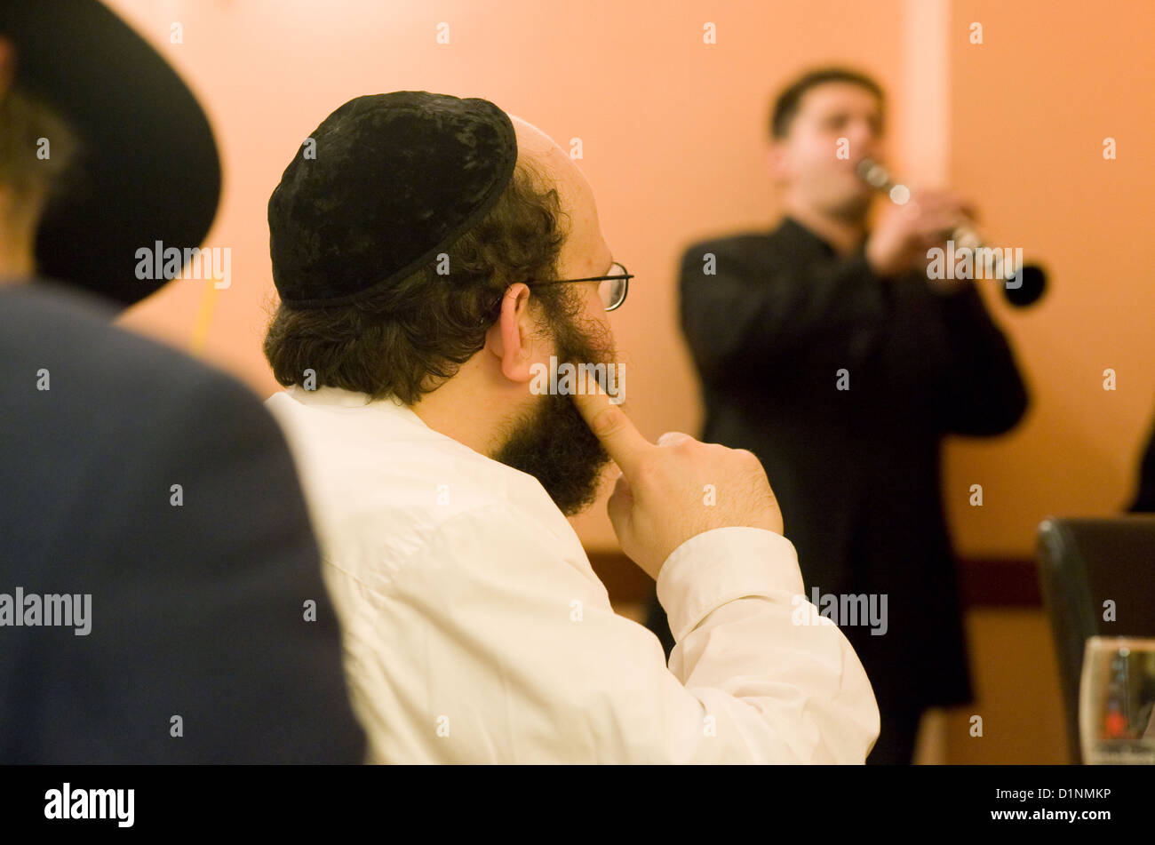 Berlin, Germany, Guests in Bleibergs kosher Cafe - Stock Image