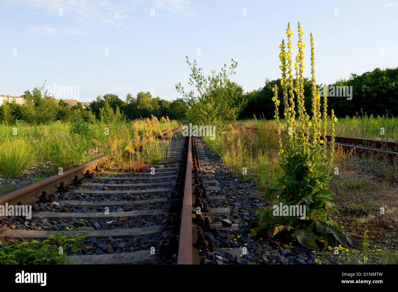Berlin, Germany, on the tracks Gleisdreiecksgelaende Stock Photo