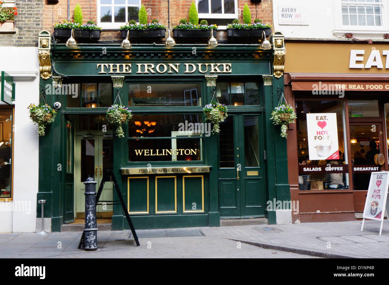 The Iron Duke public house in Avery Row, Mayfair, London. - Stock Image