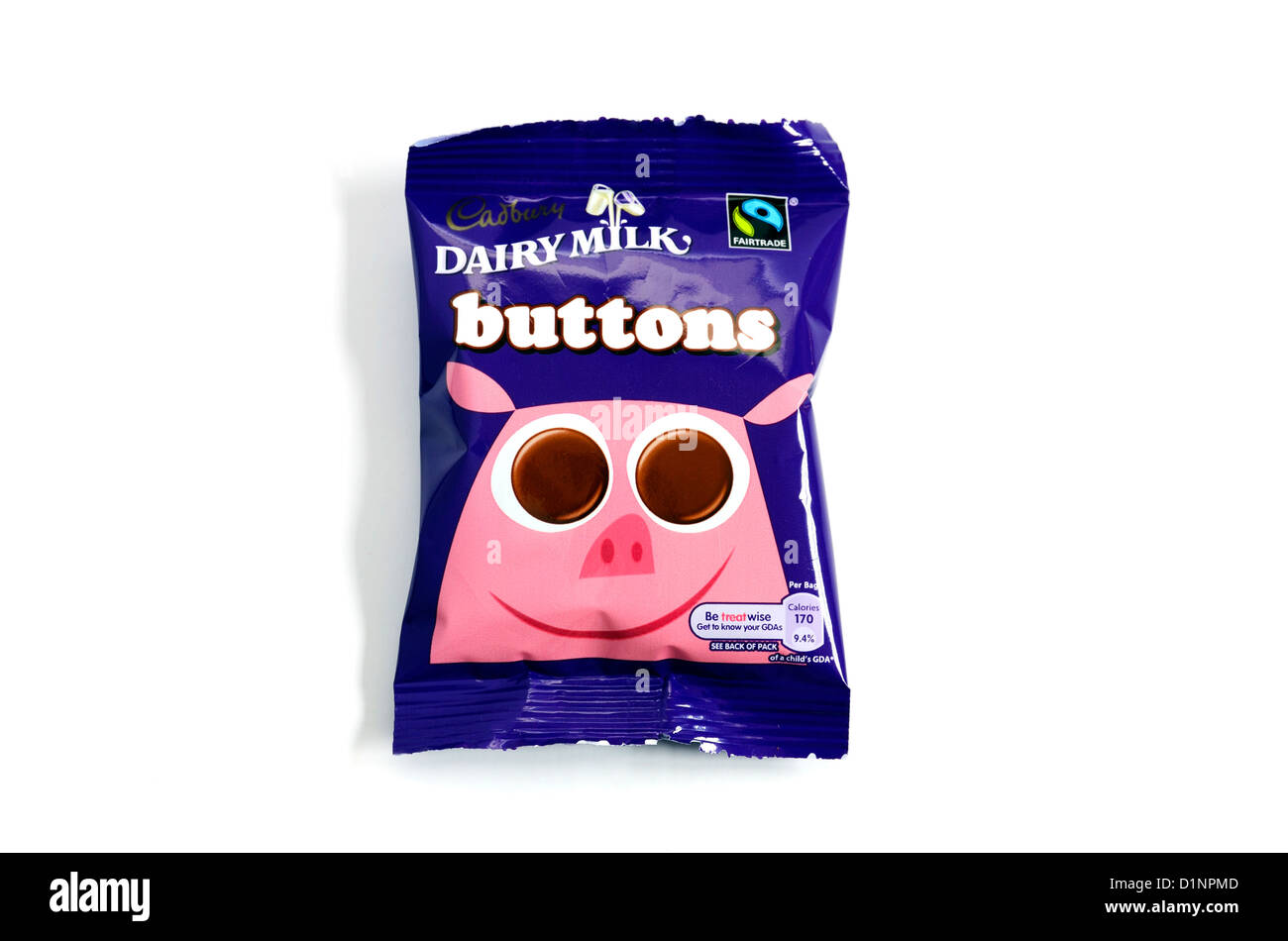 a packet of cadbury chocolate buttons - Stock Image