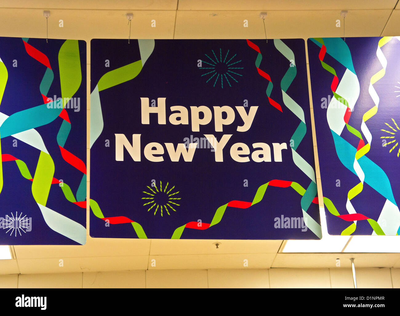 A Happy New Year poster - Stock Image
