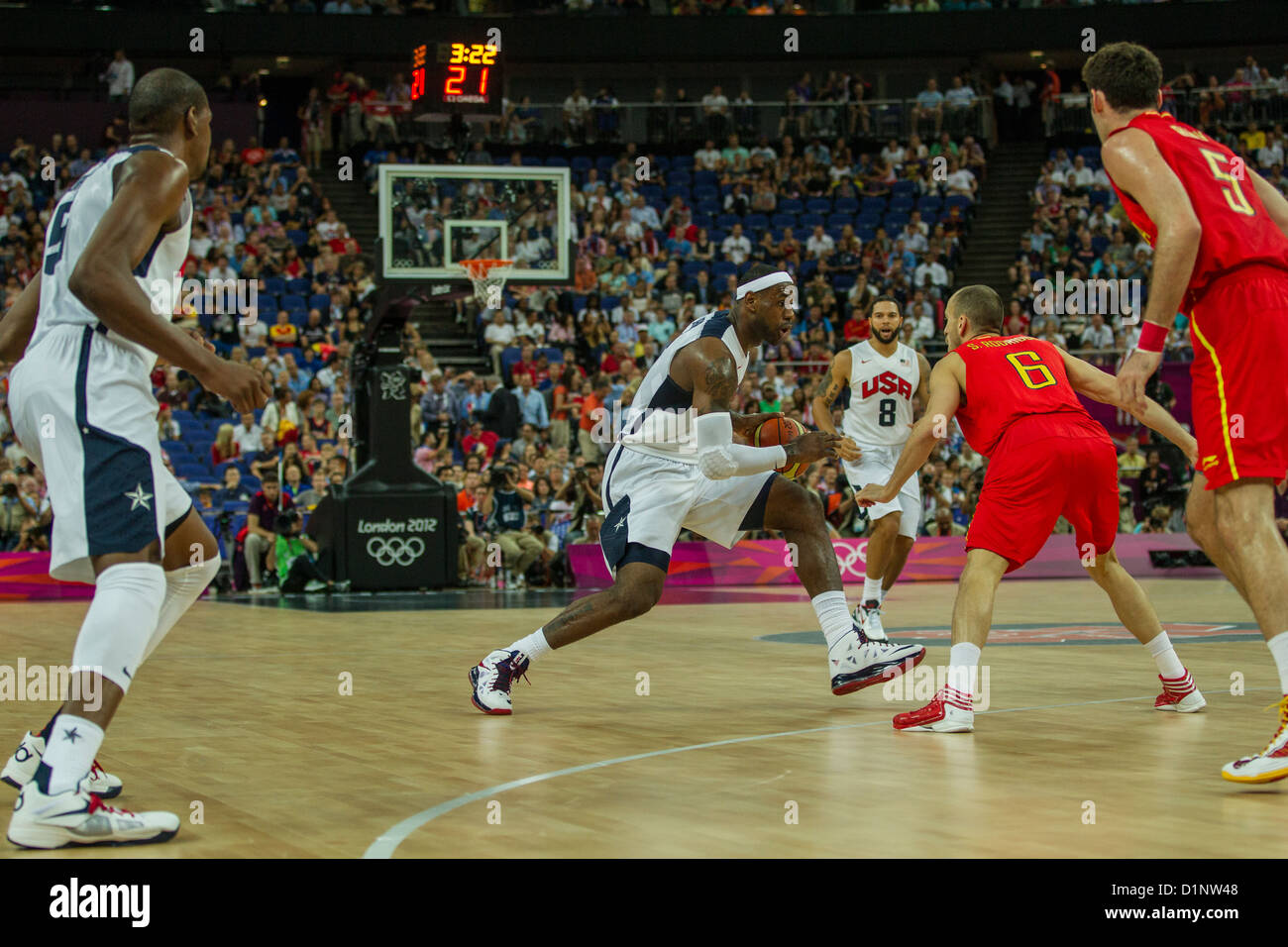 new products 3e7d0 94403 Lebron James (USA) competing in the Gold Medal Men s Basketball Game at the  Olympic