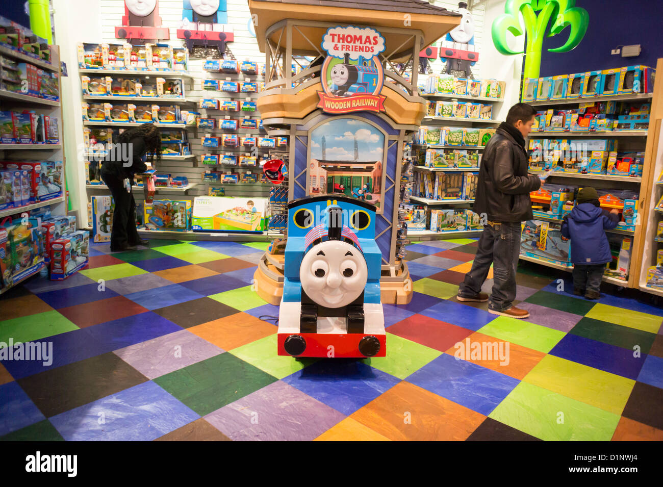 What Do You Use To Store Toys In : Thomas the tank engine merchandise is seen in a toys r us