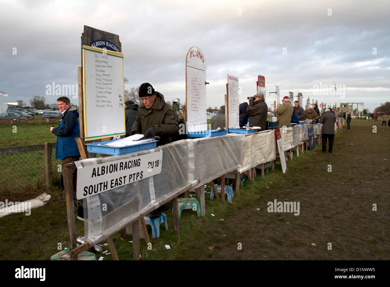 Bookies at Cottenham Point to Point Racecourse - Stock Image
